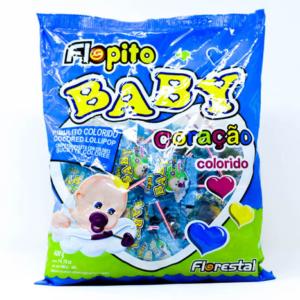 Chupetin colorido FLOPITO BABY coração – 4gr unid