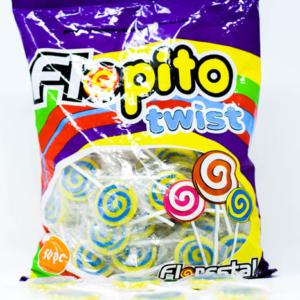 Chupetin FLOPITO TWIST – Tutty Frutti  – Amarillo – 18gr unid