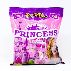 Chupetin Pop Tattoo PRINCESS whit Tongue Tatto – Tutty Frutti – 8gr unid